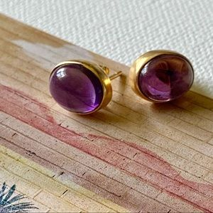 *NEW* Madewell Purple Stone Earrings